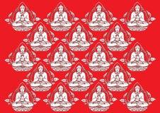 Fileira do vetor do fundo da Buda Fotografia de Stock