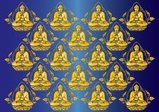 Fileira do vetor do fundo da Buda Foto de Stock