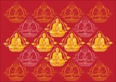 Fileira do vetor do fundo da Buda Imagem de Stock