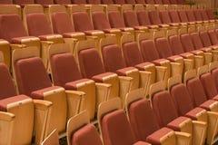 Fileira dos assentos no filarmónico Imagem de Stock