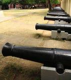 Fileira dos canhões Foto de Stock Royalty Free