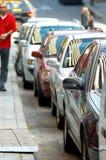 Fileira dos carros Fotografia de Stock