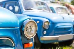 Fileira dos carros retros Fotografia de Stock Royalty Free