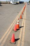 Fileira dos cones Imagem de Stock