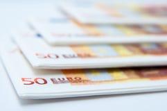 Fileira dos guardanapo do dinheiro Imagens de Stock Royalty Free