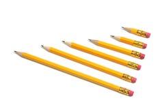 Fileira dos lápis Fotografia de Stock Royalty Free