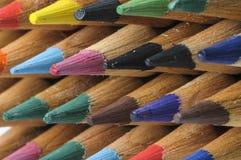 Fileira dos lápis Imagens de Stock