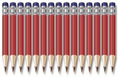 A fileira dos lápis Ilustração Stock