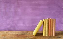 Fileira dos livros Imagens de Stock