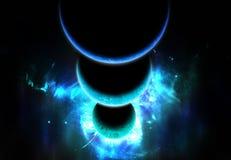 Fileira dos planetas ilustração royalty free