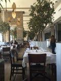 Fileira dos restaurantes Foto de Stock