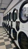Fileira dos secadores em uma lavagem automática Foto de Stock Royalty Free