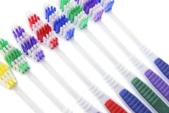 Fileira dos Toothbrushes Imagens de Stock