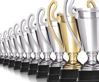 Fileira dos troféus Fotografia de Stock Royalty Free