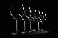 Fileira dos vidros de vinho Fotos de Stock Royalty Free