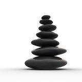 Fileira equilibrada dos seixos do zen Foto de Stock