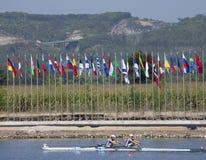 FILEIRA: Os campeonatos europeus do enfileiramento Imagem de Stock Royalty Free