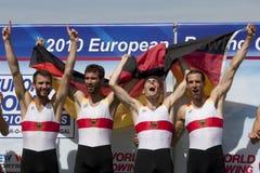 FILEIRA: Os campeonatos europeus do enfileiramento Foto de Stock
