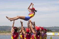 FILEIRA: Os campeonatos europeus do enfileiramento Fotos de Stock Royalty Free