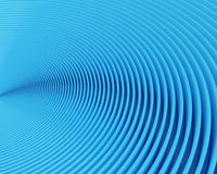 Fileiras curvadas azuis abstratas Foto de Stock Royalty Free