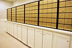 Fileiras das caixas postais Imagem de Stock