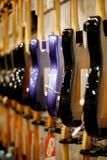 Fileiras das guitarra Foto de Stock Royalty Free