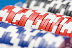 Fileiras das microplaquetas Imagens de Stock Royalty Free