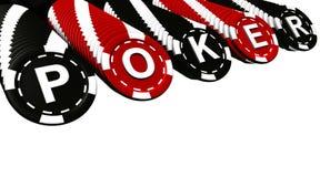 Fileiras das microplaquetas de póquer Imagem de Stock Royalty Free