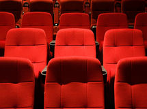 Fileiras de assentos do teatro Foto de Stock Royalty Free