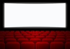 Fileiras de assentos vermelhos Fotografia de Stock Royalty Free