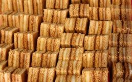 Fileiras de bolos deliciosos Imagem de Stock Royalty Free