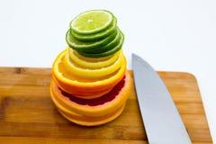 Fileiras de círculos do fruto Imagem de Stock