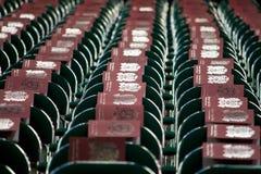 Fileiras de cadeiras estabelecidas para a cerimônia de graduação Fotos de Stock Royalty Free