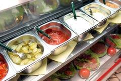 Fileiras de ingredientes de alimento Imagens de Stock Royalty Free
