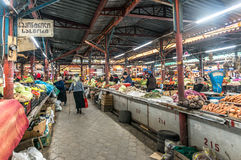 Fileiras de vegetais caseiros em Kutaisi Imagens de Stock