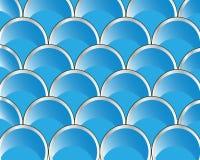 Fileiras do círculo da cor azul Fotos de Stock