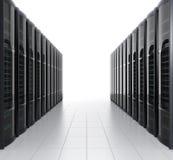 Fileiras do sistema do servidor da lâmina no fundo branco Fotografia de Stock