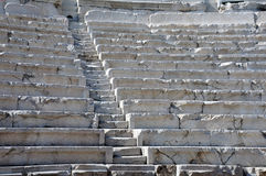 Fileiras do teatro antigo em Plovdiv Imagens de Stock