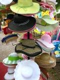 Fileiras dos chapéus Imagens de Stock Royalty Free