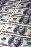 Fileiras dos dólares Imagens de Stock
