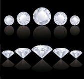 Fileiras dos diamantes Imagens de Stock Royalty Free
