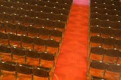 Fileiras e cadeiras um teatro, Fotografia de Stock Royalty Free