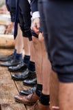 Fileiras masculinas do pé (1) Imagens de Stock
