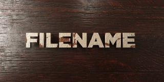 Filename - grungy drewniany nagłówek na klonie - 3D odpłacający się królewskość bezpłatny akcyjny wizerunek royalty ilustracja