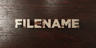 Filename - grungy wooden headline on Maple  - 3D rendered royalty free stock image. This image can be used for an online website banner ad or a print postcard Stock Images