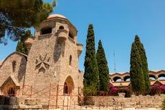 Filerimos修道院在罗得岛 免版税图库摄影