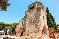 Filerimos修道院在罗得岛 图库摄影