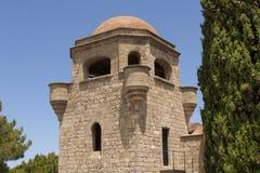Filerimos塔修道院  免版税库存图片