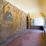 Filerimos山的修道院 免版税库存照片