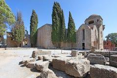 Filerimos Acropolis Rhodes island, Greece Royalty Free Stock Photos